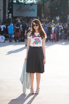 Look do dia: Midi e t-shirt