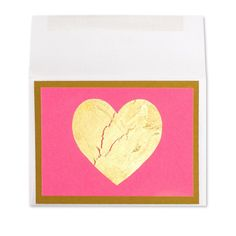 Gold Leaf Heart on Pink Price $12.00