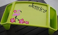 Personalized kid lap tray.