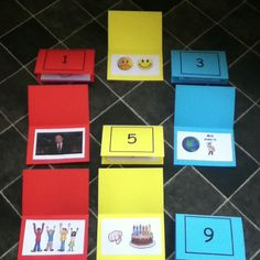 For younger primary. Pictures giving clues to the song. Children pick a number, guess the song and everyone sings it, children could take turns in conducting.