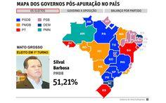 Confira o mapa dos governos estaduais eleitos este ano (FSP_1002)