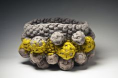 Knit felt anthropod vessel sculpture © modernfiberlab