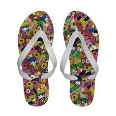 SUGAR SUGAR retro candy flip flops #flipflops #sugar #sweets #candy #summer #sharonturner #licorice #liquorice #jelly #gummybears #cute