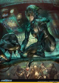 cyberpunk,art,арт,красивые картинки,Sci-Fi,cyborg,nova bionics,Female AI,cybergirl,cyber female