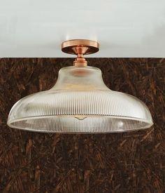 Semi-Flush Art Deco Prismatic Ceiling Light