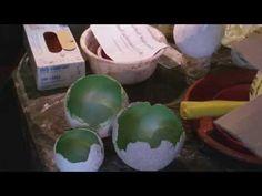 Beton giessen -DIY - Betonschale - Windlichter Kugeln aus Beton - YouTube