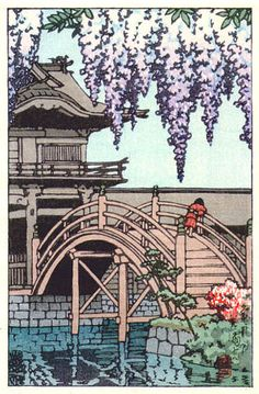 hanga gallery . . . torii gallery: Kameido Bridge by Kawase Hasui