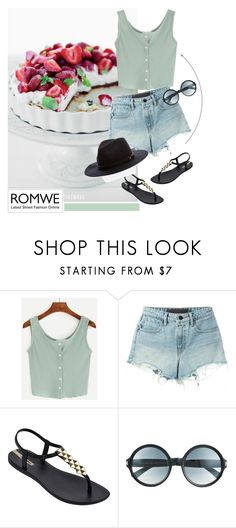 """""""NEW ROMWE CONTEST"""" by mell-2405 ❤ liked on Polyvore featuring T By Alexander Wang, IPANEMA and Tom Ford"""