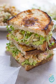 Smashed Chickpea Salad Sandwich with a Vegan Caesar Dressing - this is INSANELY delicious and so healthy too!