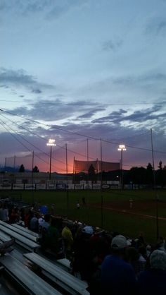 Evening sky at Genna Stadium