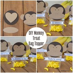 Baby shower ideas for girls themes monkey party favors Ideas Monkey Party Favors, Jungle Party Favors, Baby Shower Party Favors, Festa Party, Baby Shower Parties, Farm Party, Baby Showers, Monkey First Birthday, Monkey Birthday Parties