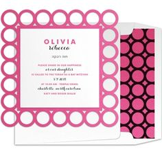 Dots letterpress foil stamped Bat Mitzvah Invitation suite from