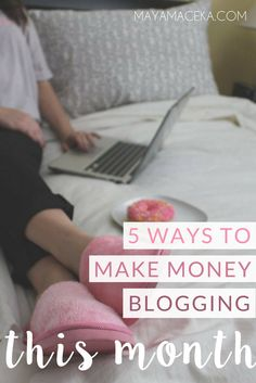 How to Make Money Blogging   You know it's possible to make money blogging, but you don't know where to start? This thorough guide is for bloggers and entrepreneurs who want to learn the 5 ways of monetizing your blog. From affiliate marketing to sponsored posts, we go over it all. Click through to learn how you can make money from your blog.