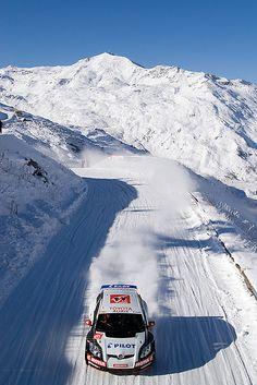 Val Thorens snow rally racing