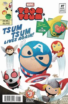 Singapore Comic Con 2016 will be held September 10-11, 2016 in Singapore.  Of course with any comic convention, there's the possibilities of exclusives.  At the convention there will be a new Marvel Tsum Tsum #1 Variant Comic.  The new STGCC exclsuive will retail for S$10.00 (about $7.42 USD) w