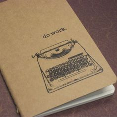 Do Work - Gocco Screen-Printed Lined Notebook