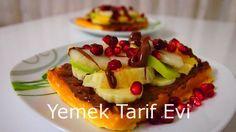 Meyveli Çikolata Soslu Waffle Tarifi #wafflelove #waffle #meyveliwaffle #wafleaşkı #recipes #yemektarifevi