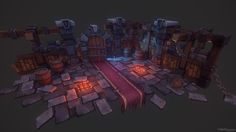 Stylized Dungeon Environment I created for a tutorial that is coming out soon. I…