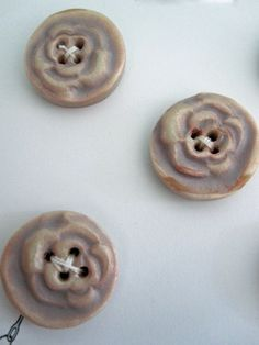 Pearl Rose Buttons by playsculptlive on Etsy, $11.00