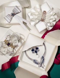Zoe Bradley's Magical wrapping for Christmas with Fine Jewellery: Box Sets shot for December British Vogue.