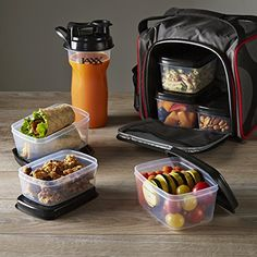 I need this in my life right now!  Jaxx FitPak with Portion Control Containers & Shaker Cup