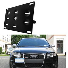 Bumper Tow Hook License Plate Mounting Bracket Holder For Audi A4 A6 Q3 Q5 S6