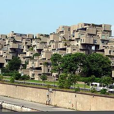 Did You Know Habitat 67...  ...is like an out of control game of Tetris? Built by architect Moshe Safdie, this unique apartment complex consisting of prefabricated concrete pieces was originally a pavilion for Expo '67. Today, Habitat 67 is one of the most photographed landmarks in Montréal, appearing in music videos, on album covers and on the silver screen – yes, that was Habitat 67 starring in the Will Ferrell movie, Blades of Glory.