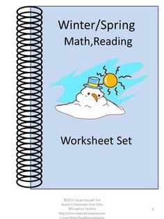 Winter  Spring Fun Printable Math and Reading Worksheets