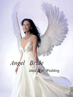 Angel wedding on pinterest angel angel wings and wings for Angel wings wedding dress