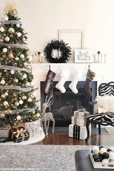 Christmas Decor - black and white