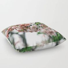 Floor Pillow Weeping Cherry Round or Square by BacktoBasicsPillows