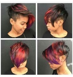 Love the red to purple fade!
