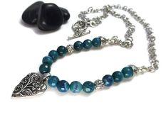 Gorgeous! Blue Stone Necklace Blue Quartz Necklace by GemstonesOnMyMind #ETys #jewelryonetsy