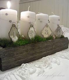 The swedish tradition: light a candle on advent (4 sundays before christmas)