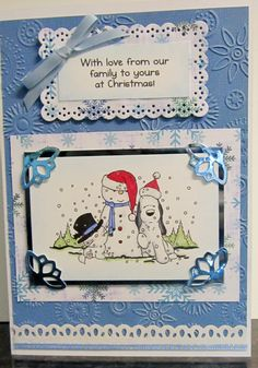 Snow Purr-Fect Cat Crafters Companion Rubber Stamp Christmas with Barkley