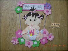 Cartel de bebe en foami, Niña, foamycreativo