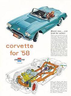 Corvette Photos - The Ultimate Corvette Photo Picture Gallery 1958 Corvette, Chevrolet Corvette, Chevy, Retro Cars, Vintage Cars, Vintage Auto, Automobile, Classic Corvette, 1950s