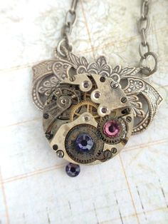 Steampunk pocket watch handcrafted artisan by VictorianMagpie