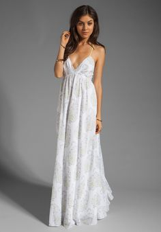 REBECCA TAYLOR Voile Gown in White at Revolve Clothing - Free Shipping!
