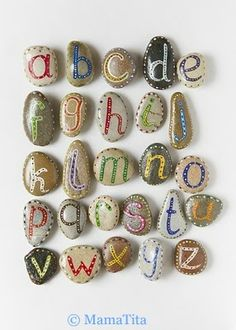 Alphabet Fun! This would also work with numbers, shapes, or colors! Hide them inside a sandbox for surprise learning!