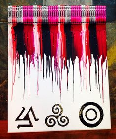 Teen Wolf Melted Crayon Art by OnceUponACrayon on Etsy, $35.00