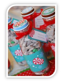 Homemade Christmas Gift Idea: Reindeer Food! I love the shape of these bottles, they are perfect for other uses as well.
