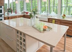Best Countertop Buying Guide – Consumer Reports Lists all the different types ie granite, quartz, bamboo, butcher, stainless, concrete. etc.