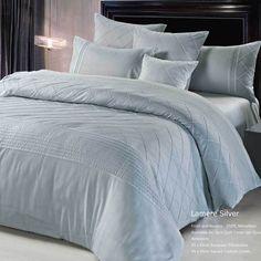 Lamere Silver Grey Queen Duvet Cover OR Quilt Cover SET 3pcs Bedding SET J02SILQ | eBay