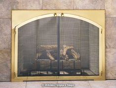 in Picture: Design Specialties Legend Rectangle Arch Fireplace Doors . Fireplace Door Replacement, Fireplace Glass Doors, Entertainment Center Makeover, Arched Doors, Door Tags, Fireplace Accessories, Custom Glass, Wall Mounted Tv, Fireplace Design