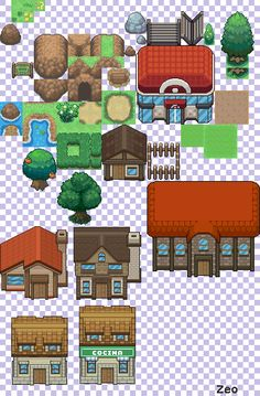 DeviantArt: More Like Pokemon Black + White Tileset by Rossay