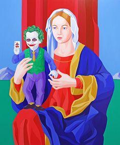 Giuseppe Veneziano, L'agente del Caos, 2013, Acrylic on canvas, 120x100 cm, ContiniArtUK Gallery London