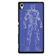 Ironman Blue Print TATUM-5682 Sony Phonecase Cover For Xperia Z1, Xperia Z2, Xperia Z3, Xperia Z4, Xperia Z5