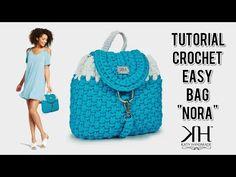 """TUTORIAL borsa/zainetto ad uncinetto """"Nora Bag"""" - Punto canestro ♡ Katy Handmade - YouTube"""
