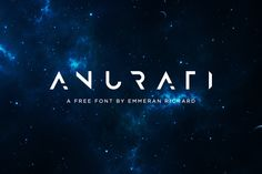Anurati Free Font is a new futuristic font, originally made to be free. This free font makes way for the creativity of each and every one. Available free for both personal and commercial use, you can also modify the colours of Anurati to suit your needs.